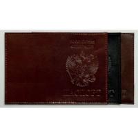 Обложка для паспорта лак. кожа с выдавленным гербом