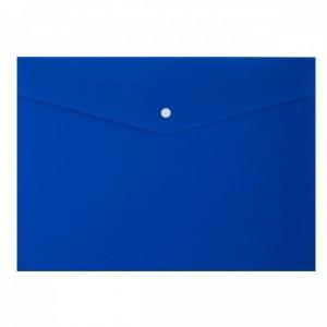 Папка-конверт на кнопке А4 200мкм, непрозрачная, синяя ASMAR (12)