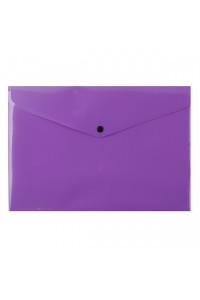 Папка-конверт на кнопке А4 200мкм, непрозрачная, фиолетовая ASMAR (12)