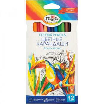 Карандаши цветные, Классические, 12 цвет..