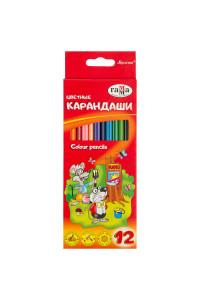 Карандаши цветные, Мультики, 12 цветов Гаммам (12)