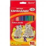 Карандаши цветные, Мультики, 18 цветов Г..