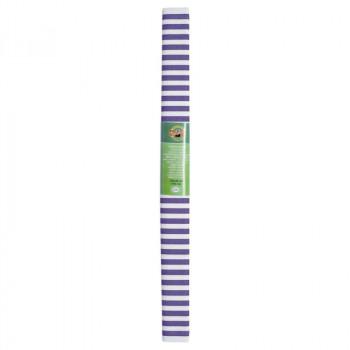 Креп-бумага Koh-I-Noor, бело-фиолетовая полоска, 2..