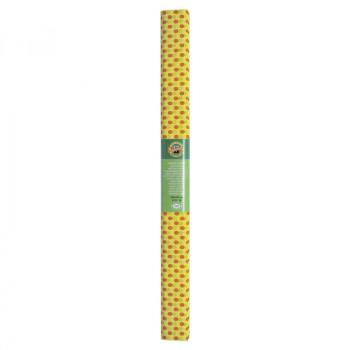 Креп-бумага Koh-I-Noor, желтая с красными точками,..