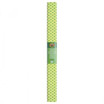 Креп-бумага Koh-I-Noor, желтая со светло-зелеными ..