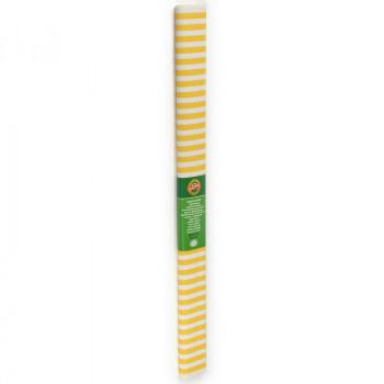 Креп-бумага Koh-I-Noor, желто-белая полоска, 2000х..