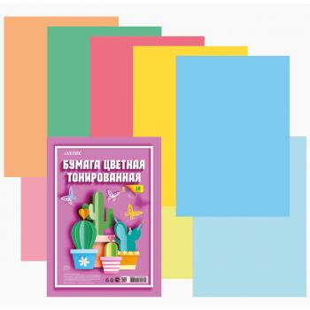 Бумага цветная тонированная двусторонняя A4 (210x2..
