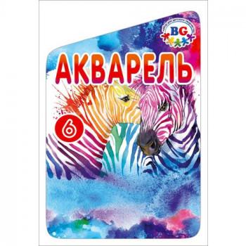 Краски акварельные медовые 6 цветов BG