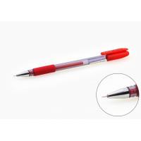 """Ручка гелевая красная игольчатый наконечник с резиновым держателем """"ASMAR"""" (12)"""