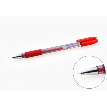 Ручка гелевая красная игольчатый наконеч..