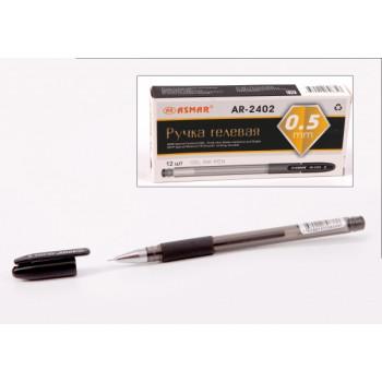 Ручка гелевая черная игольчатый наконечн..