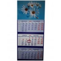 Календарь трио на гребне Небесные цветы..