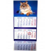Календарь трио на гребне Шелковистый Барсик