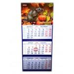Календарь трио на гребне Крысенок с тыкв..