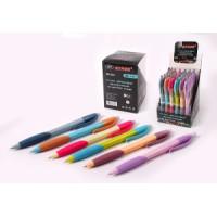 Ручка автоматическая шариковая синяя на масляной основе  цветной корпус NEW (36)