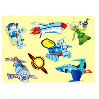 Трафарет-раскраска в АССОРТИМЕНТЕ 12 видов, пакет (60) (ТР-10, КОСМОС), ТР