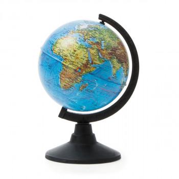 Глобус физический, d=120мм, круглая черная подстав..