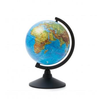 Глобус физический, d=210мм, круглая черная подстав..