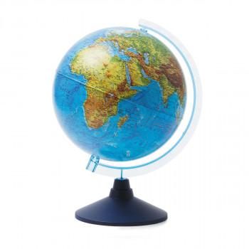 Глобус физический, d=250мм, круглая голубая подста..