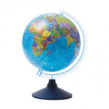Глобус политический, d=250мм, круглая голубая подс..
