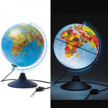 Глобус физико-политический, d=250мм, с подсветкой,..