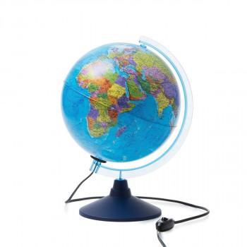 Глобус политический+звездное небо, d=250мм, с подс..