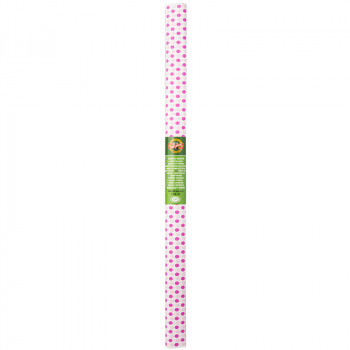 Креп-бумага Koh-I-Noor, розовая с малиновыми кружк..