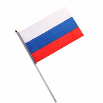 Флаг России 30*45 на палочке, шелк ASMAR..