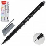Ручка капил 0,4 Graph Peps 749123 серый ..