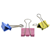 Зажимы для бумаг в наборе, цветные, 25 мм, 12 шт. ,SPONSOR