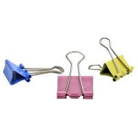 Зажимы для бумаг в наборе, цветные, 51 мм, 12 шт. ,SPONSOR