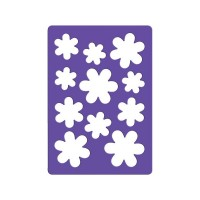 Трафарет для тиснения, ПВХ, РОМАШКИ, ф.A6, п/п с е/п ,FANCY CREATIVE