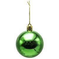 Шар блестящий, 1 шт, 6 см, зеленый ,WINTER WINGS