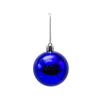 Шар блестящий, 1 шт, 6 см, синий ,WINTER WINGS