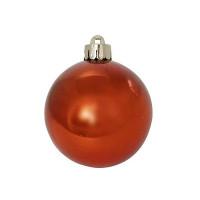 Шар блестящий, 6  см,  оранжевый, 1 шт. в прозрачной коробке ,WINTER WINGS
