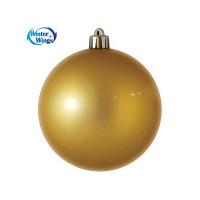 Шар блестящий, 7  см,  золотой, 1 шт. в прозрачной коробке ,WINTER WINGS