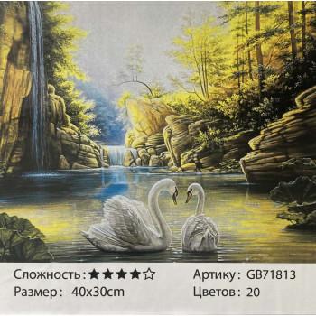 Алмазная мозаика ( 30 см х 40 см) GB71813..