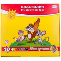 Пластилин ЮНЫЙ ХУДОЖНИК, 10цв, со ст Гамма