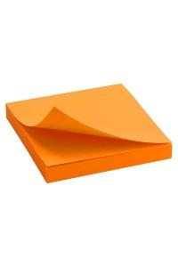 Блок бумаги с клейким слоем 75x75 мм, 100 л., ярко-оранж AXENT