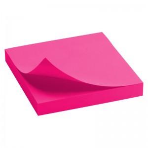 Блок бумаги с клейким слоем 75x75 мм, 100 л., ярко-розовый AXENT