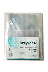 Папка-вкладыш (файлы) А4 35 мкм, глянцевые, 100 шт. WENZER OFFiCE (20)