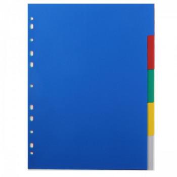 Разделитель А4 1-5 цвет пластик Attomex 3051510..
