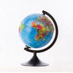 Глобус Земли Политический  (210 мм релье..