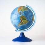 Глобус Земли Физический  (250 мм.Классик..