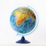 Глобус Земли Физический  (320 мм. Класси..