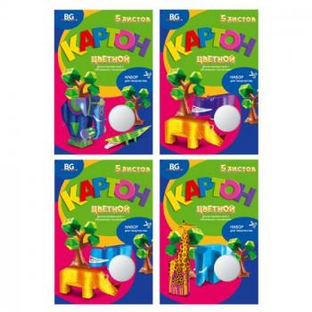 Набор цветного фольгированного картона с..