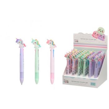 Автоматическая шариковая ручка: 3-х цвет..