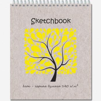 Блокнот-скетчбук SKETCHBOOK BLACK 140 20л., 170х20..