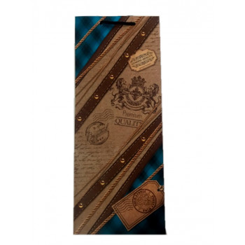 Пакет бумажный подарочный 12х36см
