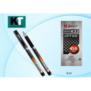 """Ручка гелевая """"OFFICE K33"""", черная, 0.5 мм., игольчатый наконечник (BASIR) (12/864)"""